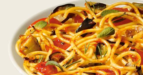Recettes de Saison – Spaghetti Aubergine