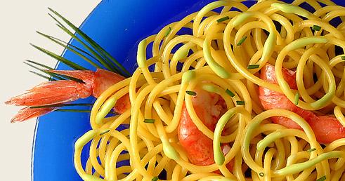 Recettes de Saison – Spaghettoni Poireaux Écrevisses