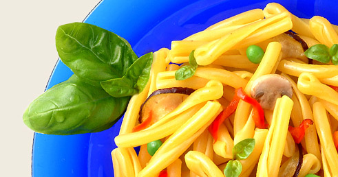 Recette avec Pâtes, Légumes et Basilic