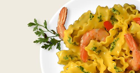 Recette avec Pâtes, Pesto et Crevettes