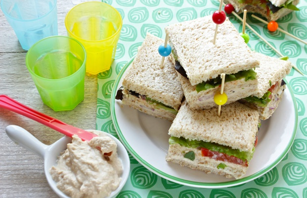 Sandwich con mousse di tonno leggera