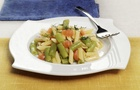 Mini Penne Rigate in insalata con salmone e fagiolini
